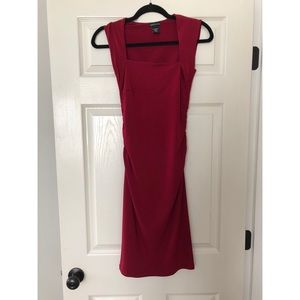 Form fitting square neck dress